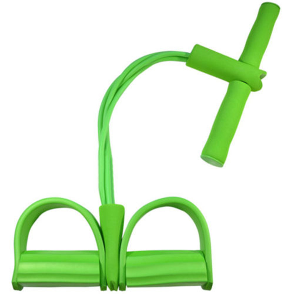 Details about  /Pedal Pull Rope Resistance Exercise 4-Tube Yoga Equipment Sit-up Fitness