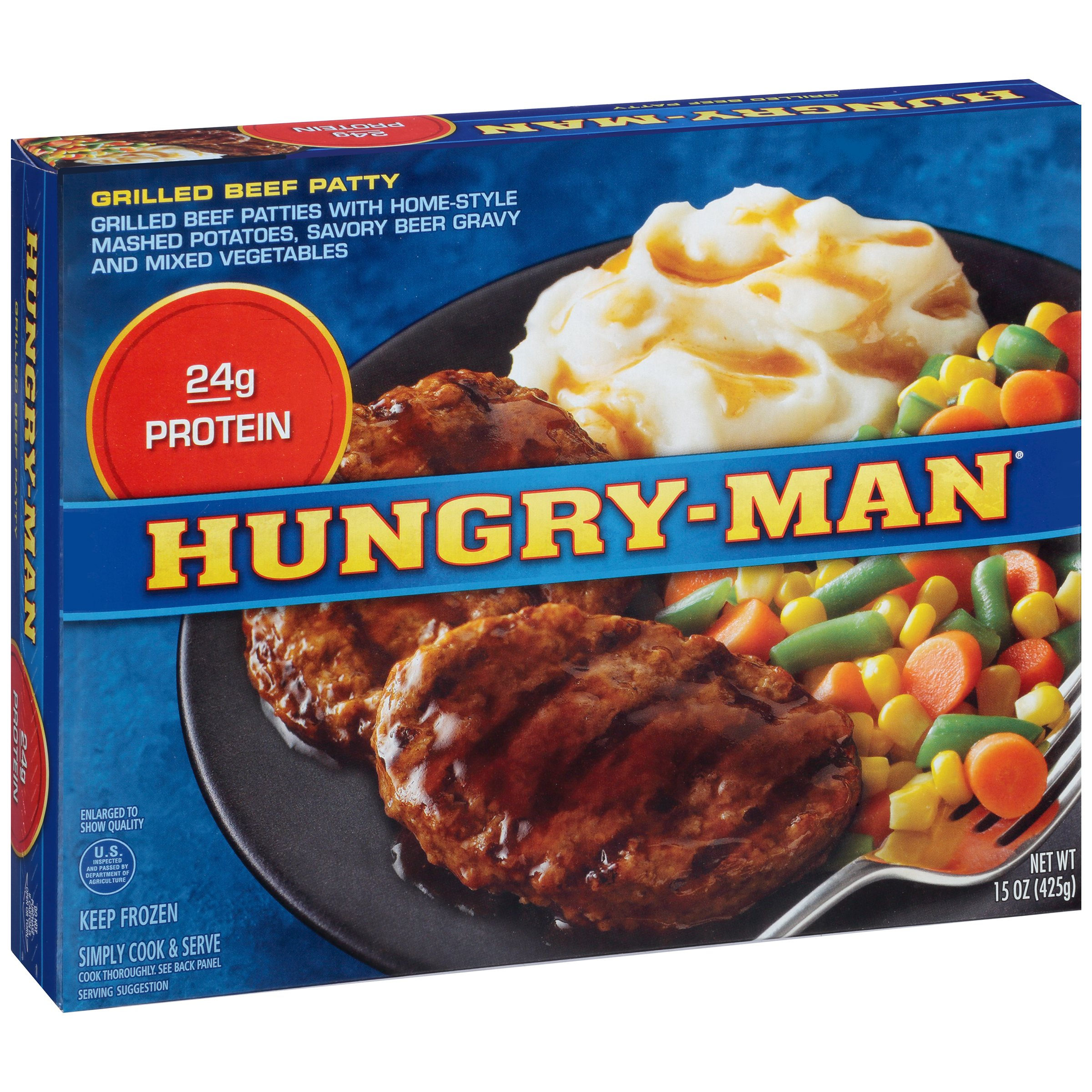 Hungry-Man® Grilled Beef Patty 15 oz. Box