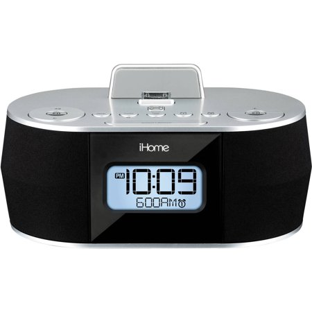 ihome idn38 dual alarm fm clock radio for ipad iphone dock not compatible w iphone 5 6 7 or. Black Bedroom Furniture Sets. Home Design Ideas