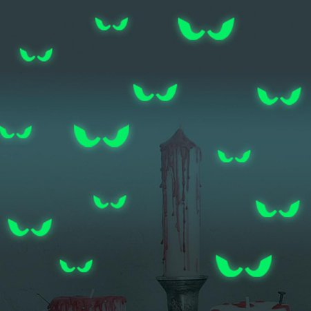 Floor 1 Of 100 Floors Halloween (Halloween Voyeur Eyes Luminous Stickers Personality Creative Removable Carved Luminous Stickers Decals Household Room Window Floor Stickers Background Decorations for Home Halloween)
