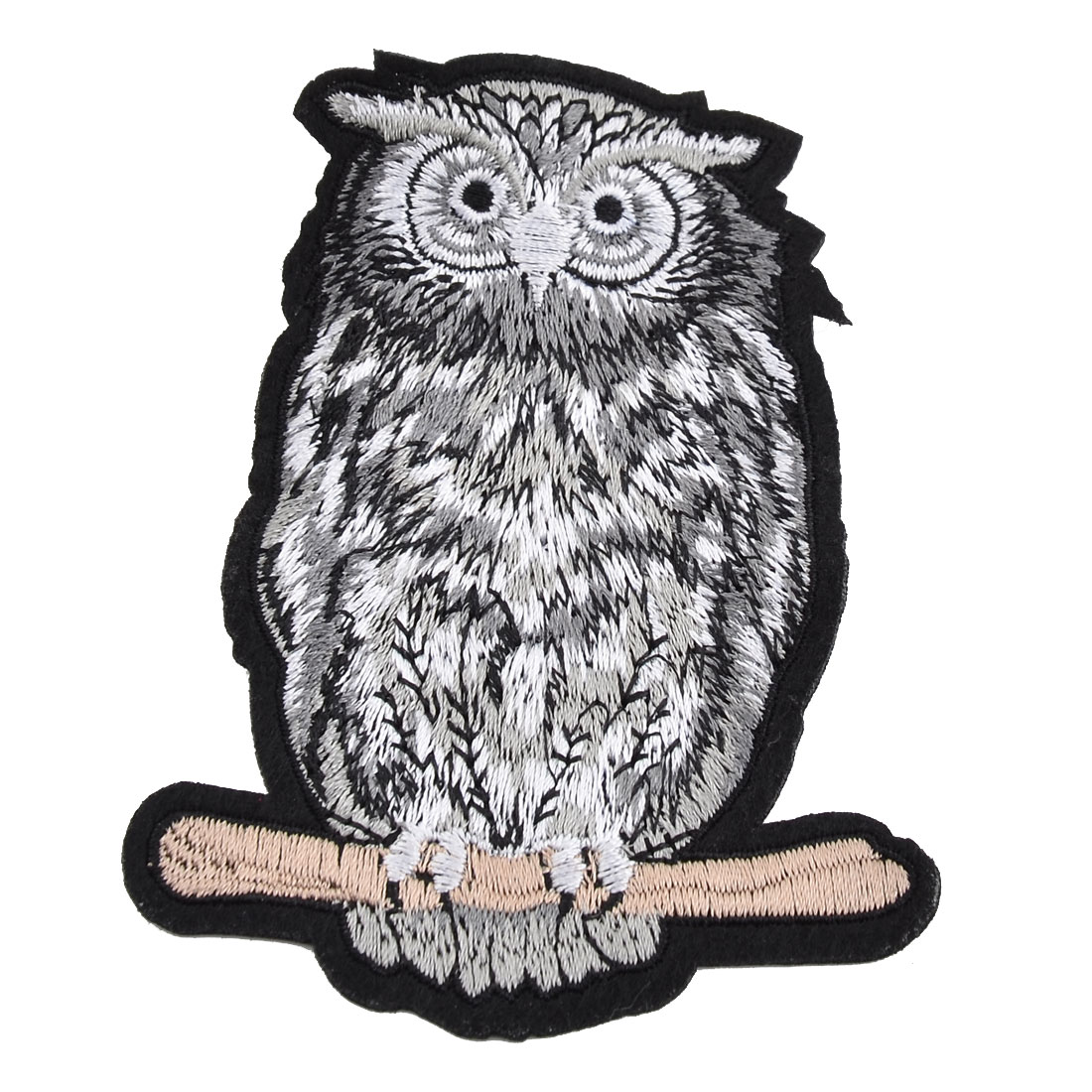 Unique Bargains Home Polyester Owl Shape DIY Handcraft Sewing Clothes Decor Lace Applique Black