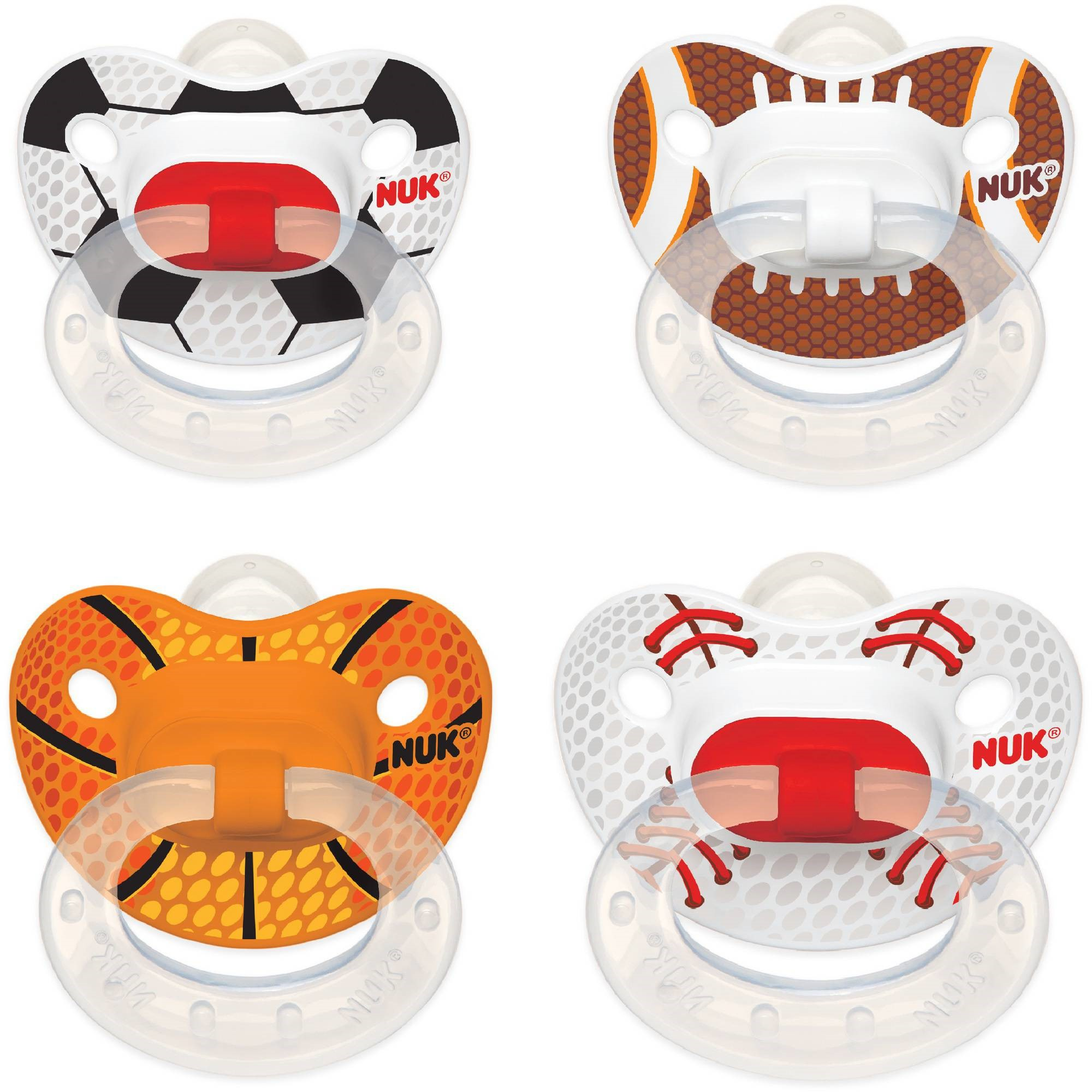NUK Sports Silicone Orthodontic Pacifiers, 2 ct, 6-18 months (Design May Vary)