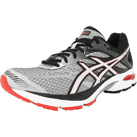 ea232fabb3383 Asics Men's Gel-Flux 4 Glacier Grey   Silver Vermilion Ankle-High Fabric  Running Shoe - 10M