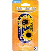 Headwind Consumer Products 840-0001 EZREAD Garden Thermometer Sunflowers Suction Mount, 3.5-Inch