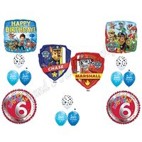PAW PATROL 6th Birthday Balloons Decoration Supplies Party Chase Marshall Ryder Sixth