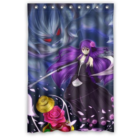 DEYOU Beauty And The Beast Rose Shower Curtain Polyester Fabric Bathroom Size 48x72 Inches