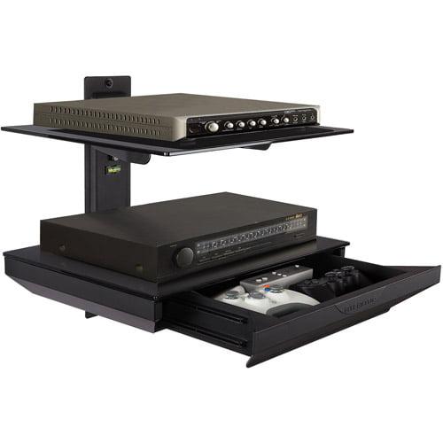 Atlantic 2-Tier AV Component Shelf with Drawer