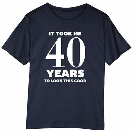 Womens 40Th Birthday Gift It Took Me 40 Years Navy T Shirt