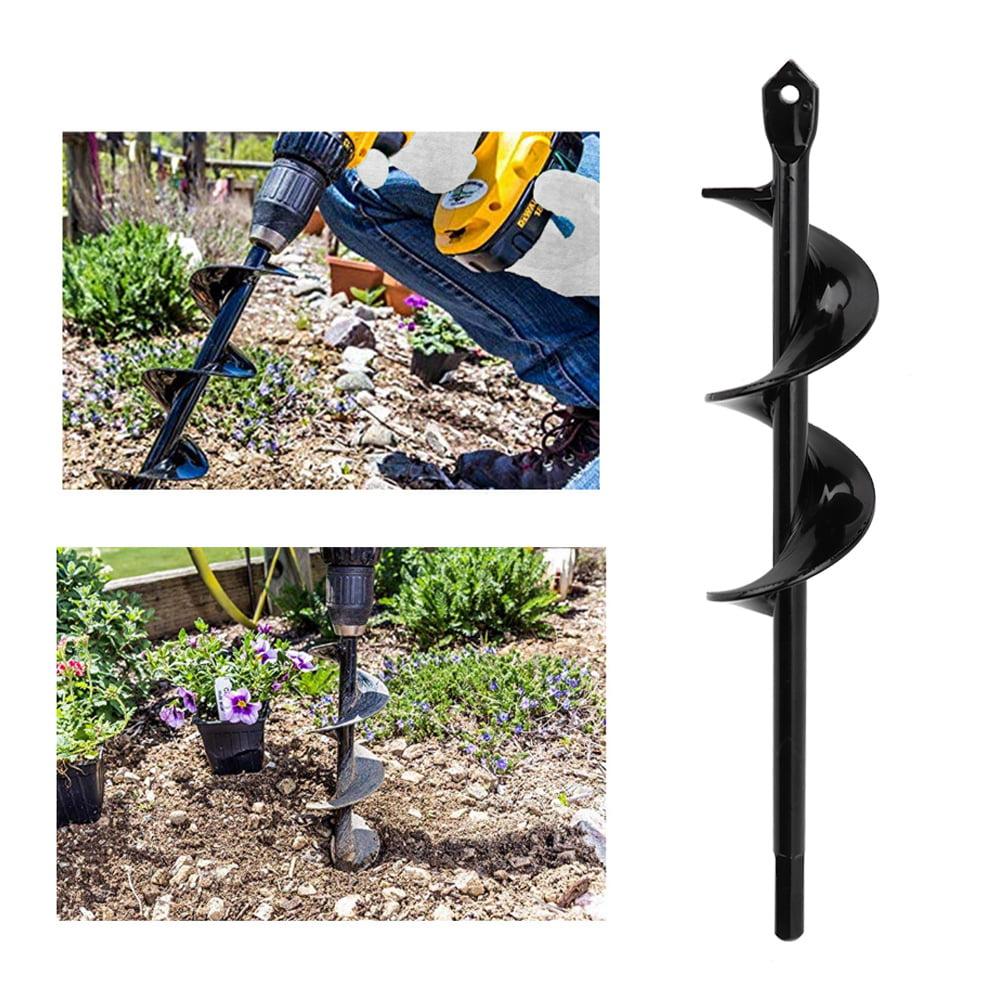 9  Irrigating Spiral Drill Bit Hole Dig For Garden Auger Planting Seedlings
