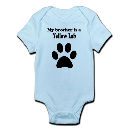 CafePress - My Brother Is A Yellow Lab Body Suit - Baby Light (Brother Scrubs Lab Green)