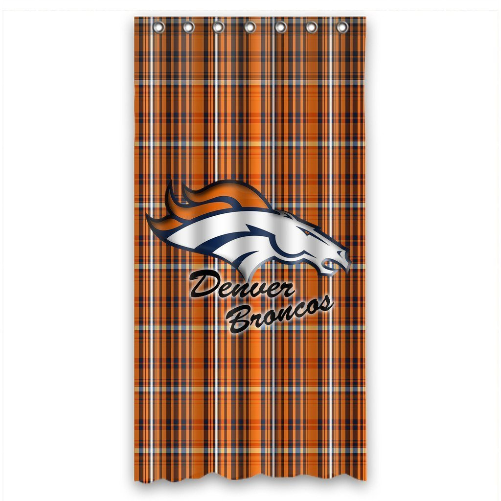 DEYOU Denver Broncos Shower Curtain Polyester Fabric Bathroom Size 36x72 Inches