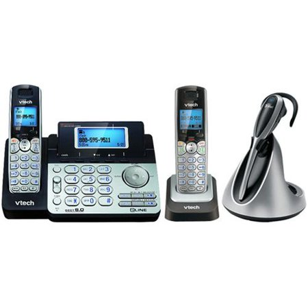 VTech DS6151 + DS6101 + IS6100 Cordless Phone System W  2-Line Operation by