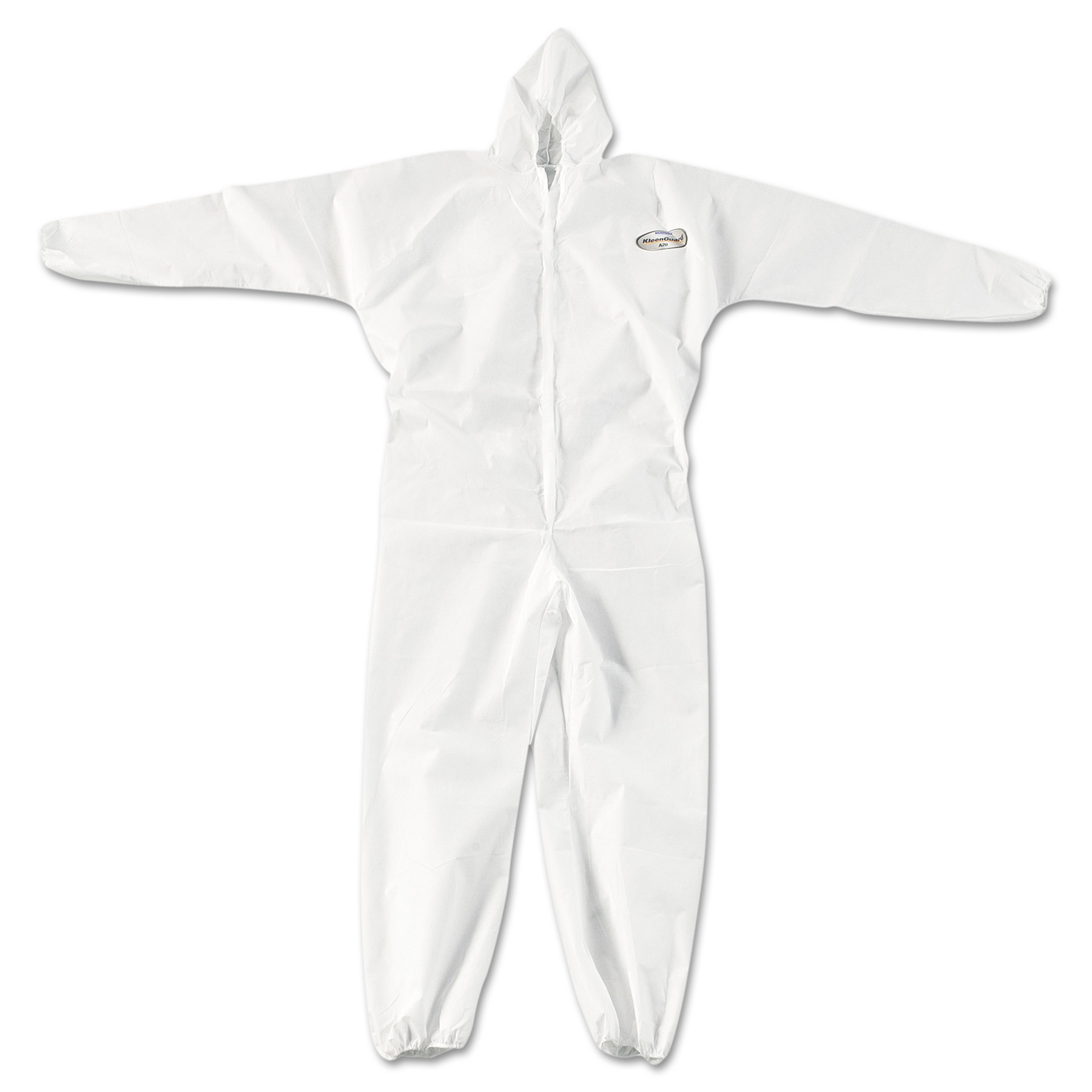 A20 Elastic Back, Cuff and Ankle Coveralls, Zip, XL, White, 24 Per Carton by Kimberly Clark