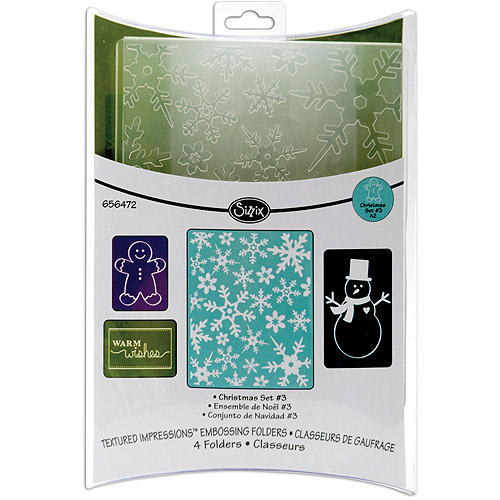 Sizzix Textured Impressions Embossing Folders, Christmas #3