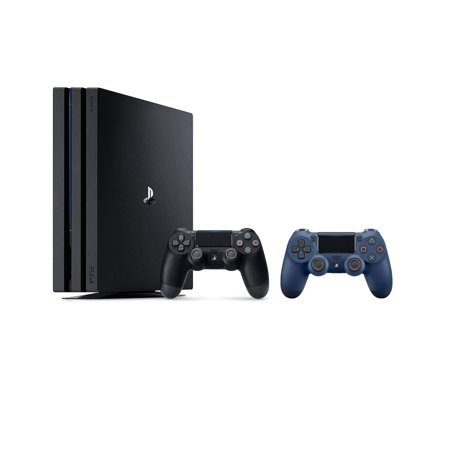 Sony PlayStation 4 Pro 1TB 4K HDR Gaming Console with Extra Midnight Blue Dualshock4 Wireless Controller Bundle
