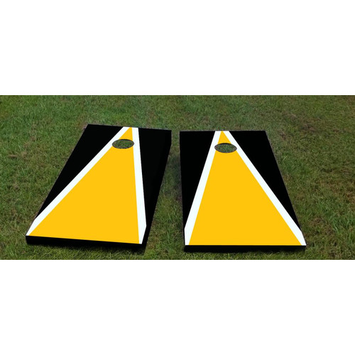 Click here to buy Custom Cornhole Boards Steelers Cornhole Game (Set of 2) by Custom Cornhole Boards.