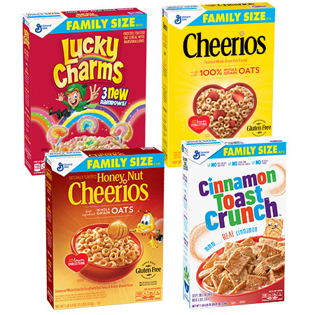 Your Choice: General Mills Family Size Cereal Bundles (Pick 2)