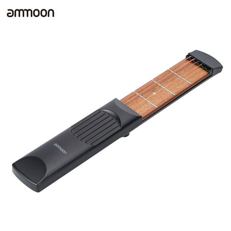 ammoon Gadget Chord Trainer 6 String 4 Fret Model for Beginner Portable Pocket Acoustic Guitar Practice Tool (Gadgets Model)