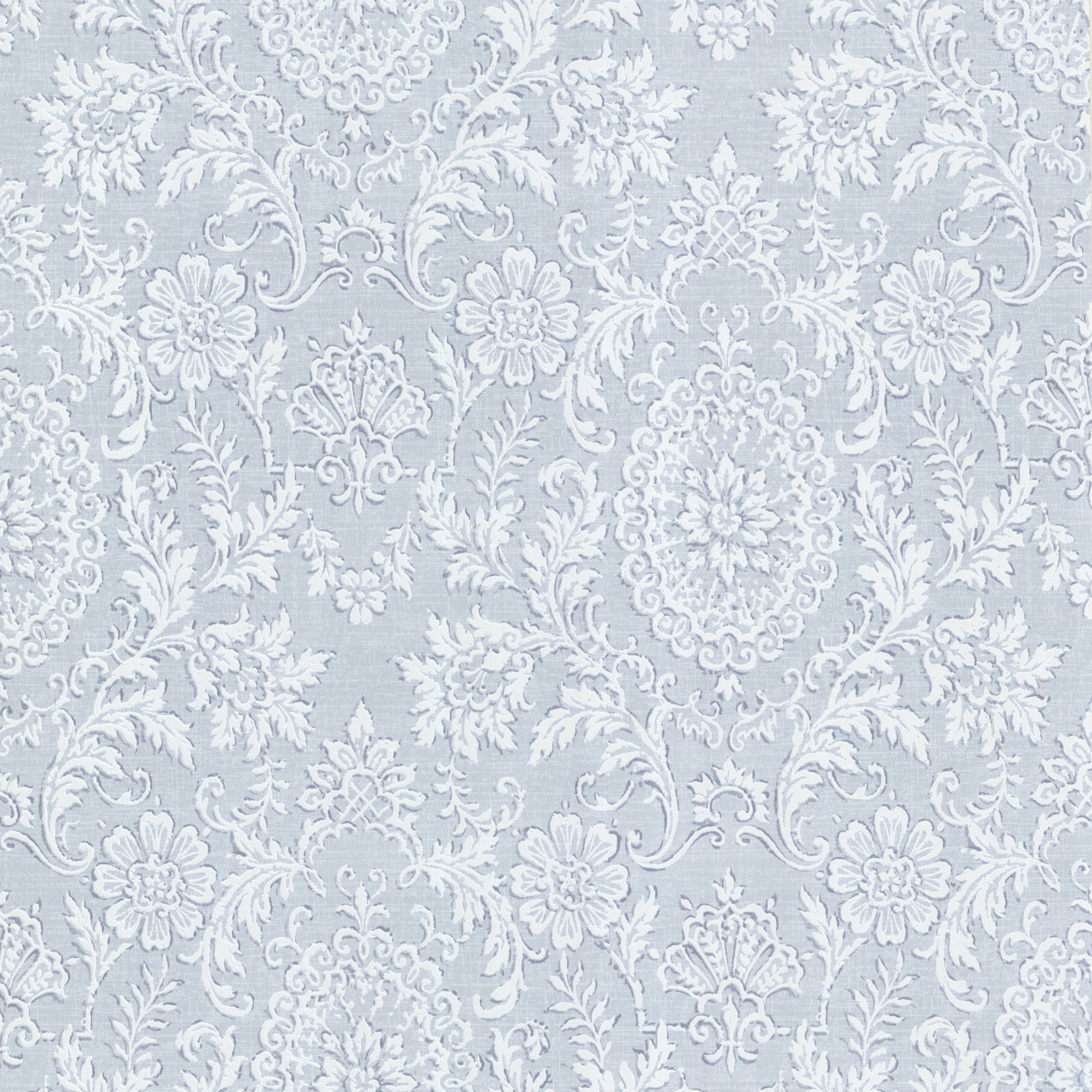 Beacon House Ornament Damask Motif Wallpaper Blue - 302-66888