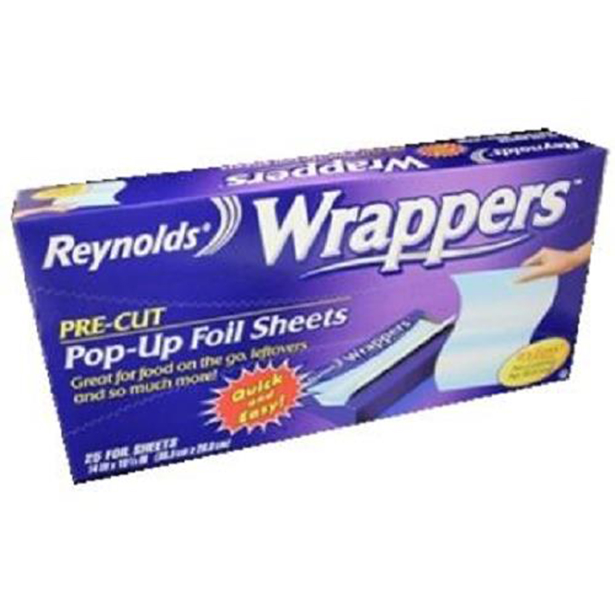 Product Of Reynolds, Wrappers Pre-Cut Foil Sheets, Count 1 - Aluminum Foil Paper / Grab Varieties & Flavors
