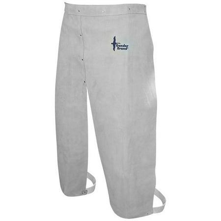 Bob Dale 64-1-69 Welding Apron Leather Split Leg Waist Apron 24x32 Pearl Grey