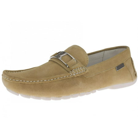 LN LUCIANO NATAZZI Mens Air Grant Penny Suede Leather Shoes Original Slip-On Driving Loafer