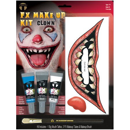 Crazed Killer Sewer Clown Makeup And Tattoo Kit Costume Accessory](Killer Doll Makeup)