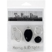 "Two Paper Divas Clear Stamps, 6.5"" x 4.5"", Merry and Bright"