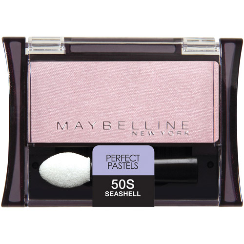 Maybelline Expert Wear Perfect Pastels Shimmer Eyeshadow Singles, 50 Seashell, 0.09 oz