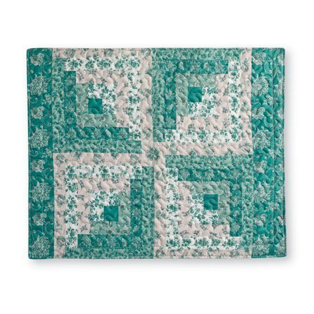 Sutton Floral Patchwork Pillow Sham, Sham, Green