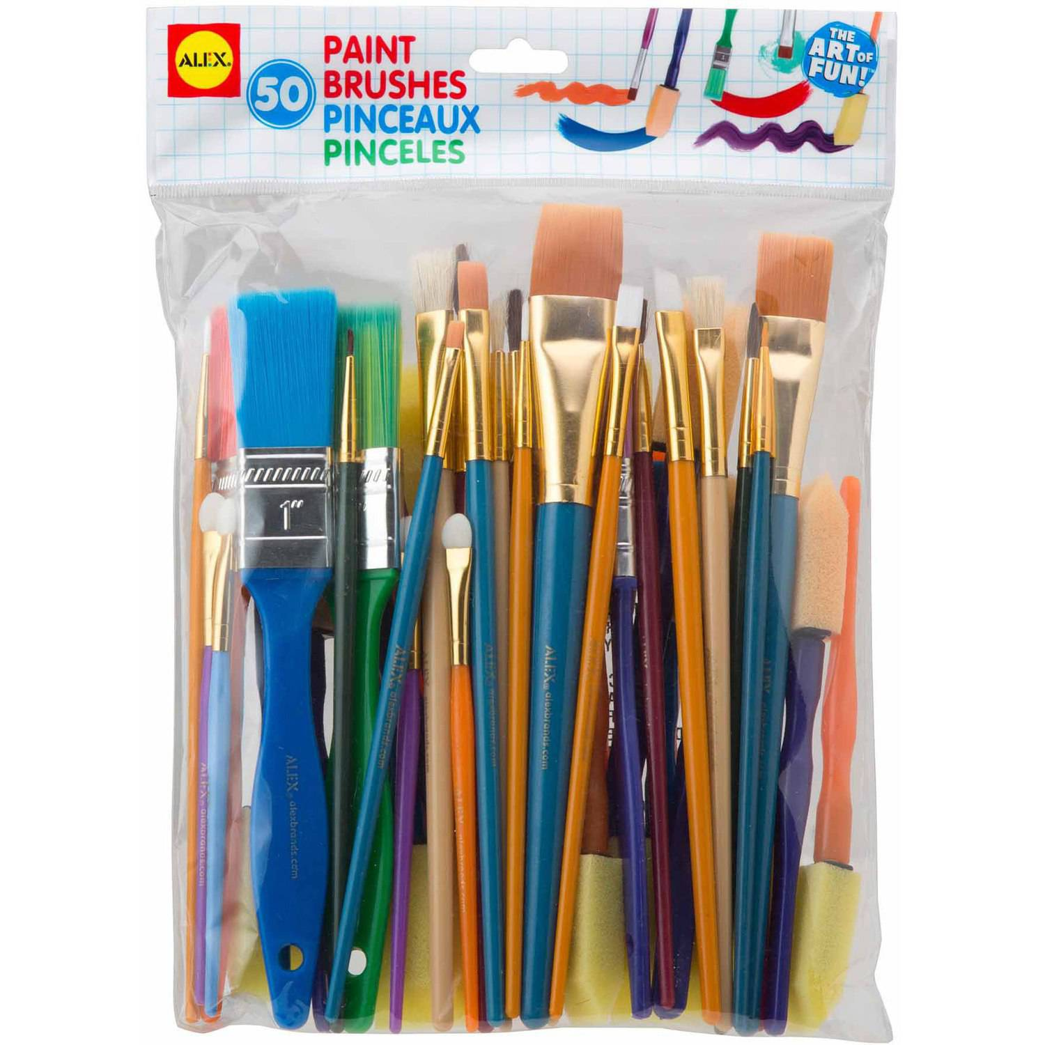 ALEX Toys Artist Studio Paint Brushes Set of 50 by Alex Brands