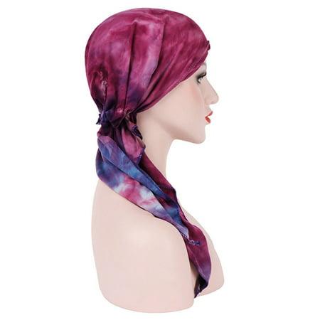 Chemotherapy Cap Cambered Floral Print Cap Muslim Turban for Women - image 5 de 9