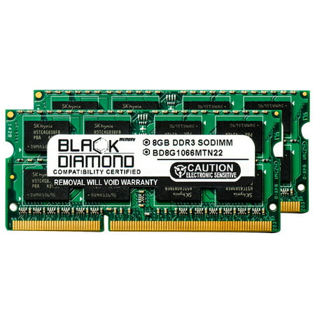16GB 2X8GB RAM Memory for Apple iMac MB950T/A DDR3 SO-DIMM 204pin PC3-8500 1066MHz Black Diamond Memory Module (Best Imac Black Friday Deals)