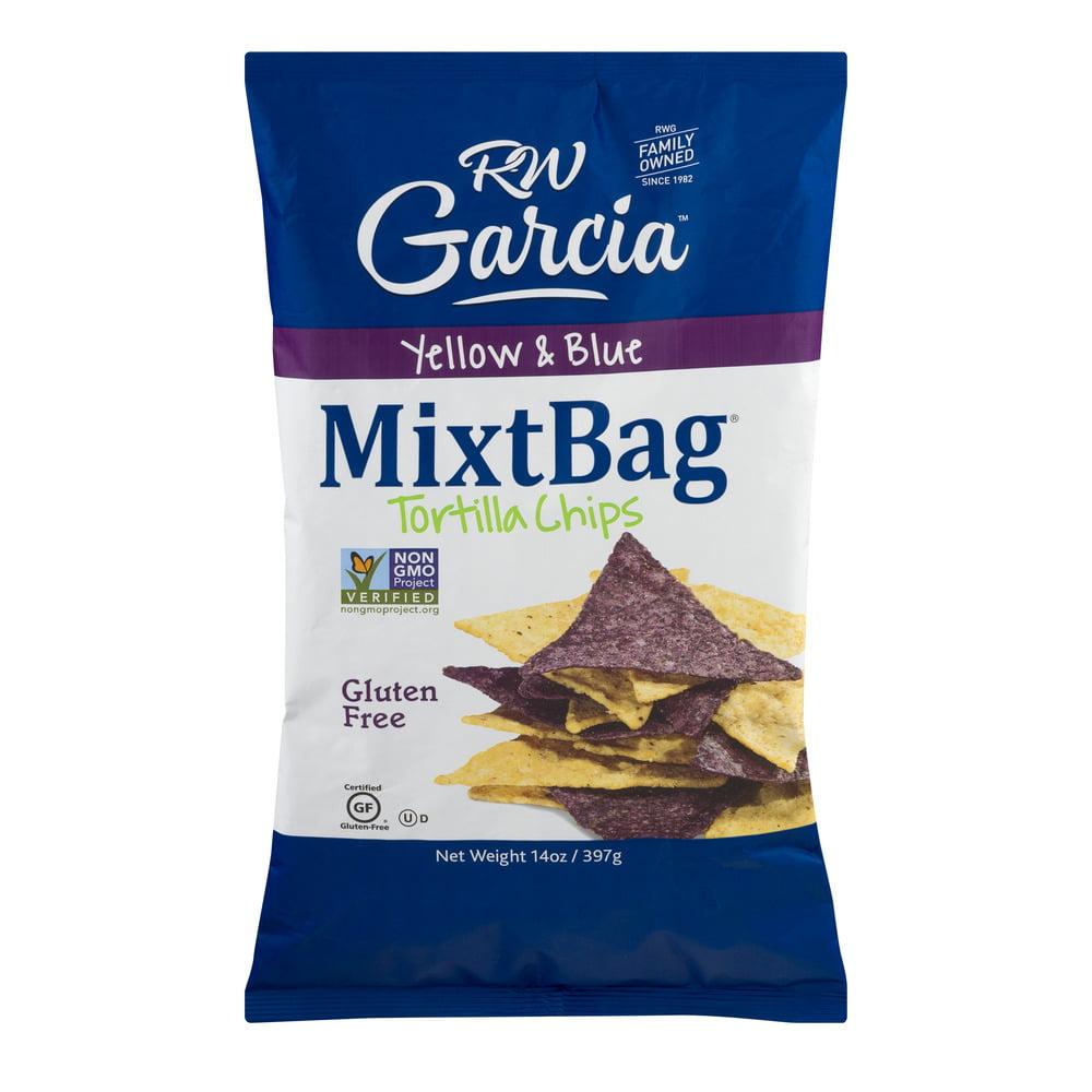 RW Garcia Yellow & Blue MixtBag Tortilla Chips, 14.0 OZ