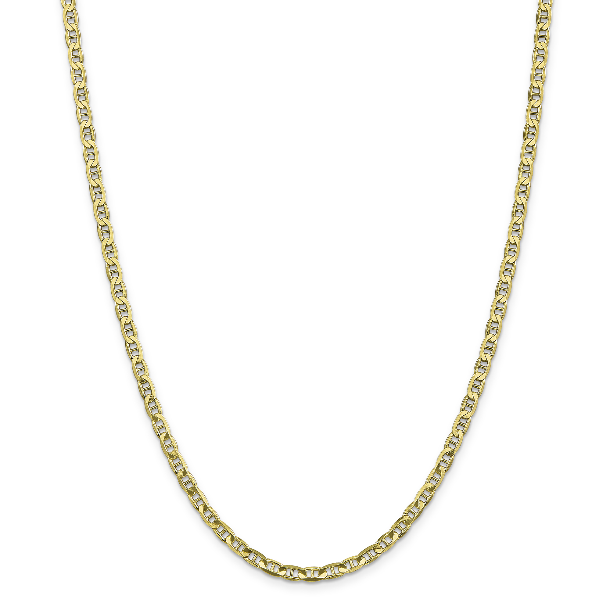 10K Yellow Gold 3.75mm Concave Anchor Chain 18 Inch - image 6 of 6