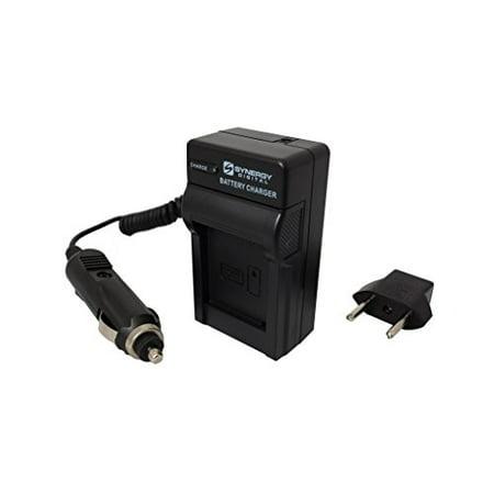 Hitachi DZ-BD10HA Camcorder Battery Charger (110/220v with Car & EU adapters) - Replacement Charger for Panasonic DU14, & DU21 / VW-VBG130, & VBG260 Hitachi Camera Charger
