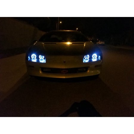 1993-1997 Chevrolet Camaro Blue Angel Eye Head Lights Lamps ()