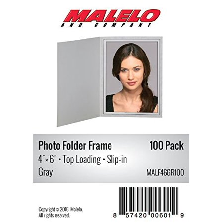 Gray Cardboard Photo Folder Frame 4X6 - Pack of 100 (Photo Frame Packs)