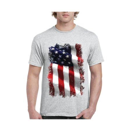 caf35396 IWPF - United States of America Flag Men's Short Sleeve T-Shirt - Walmart .com