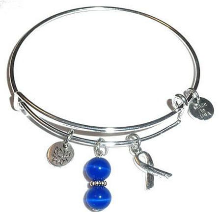 Prostate Cancer Thyroid Bracelet By Hidden Hollow Beads Expandable Charm Bangle Bracelets Awareness