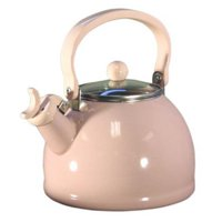 Calypso Basics, Whistling Teakettle w/ Glass Lid, Pink (light)