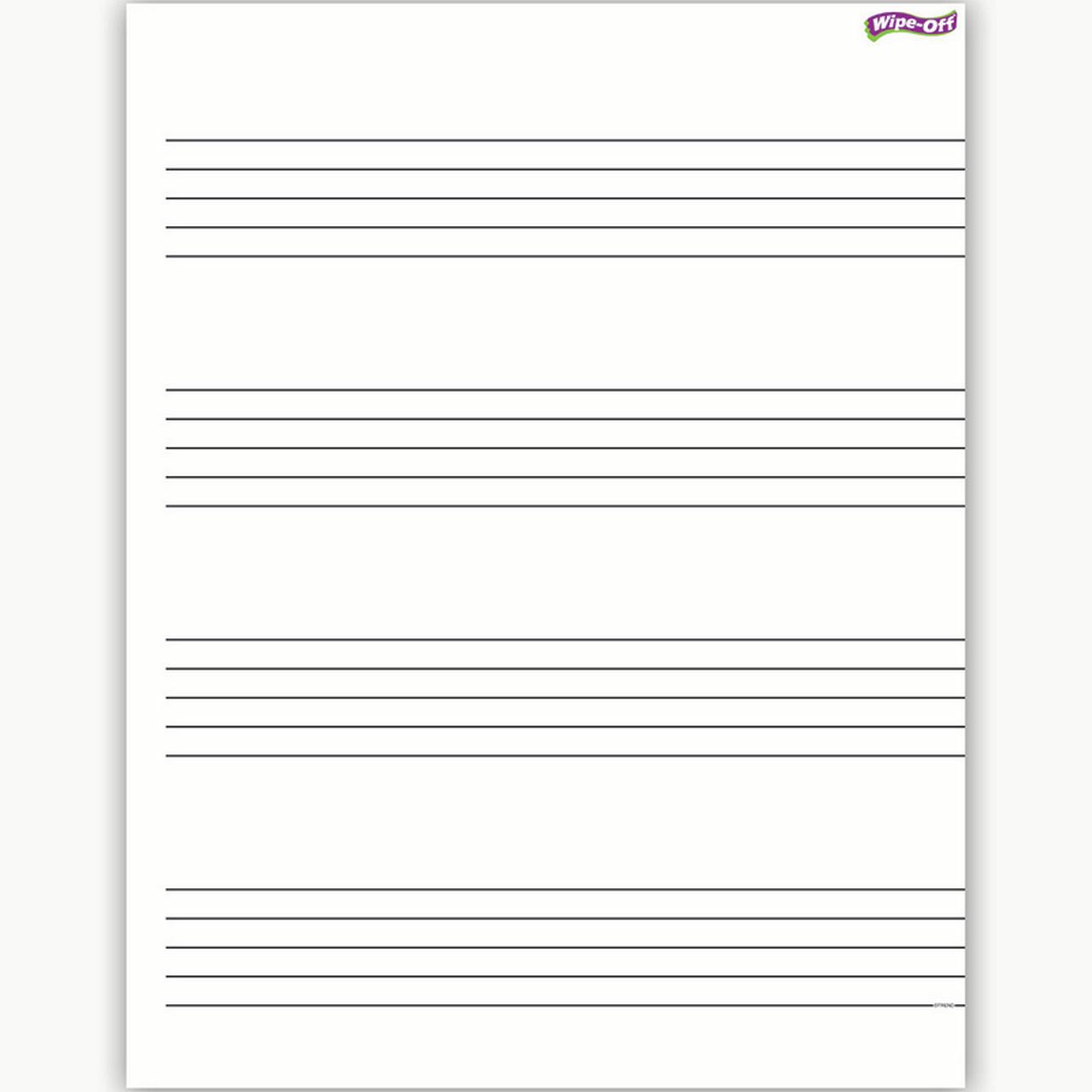MUSIC STAFF PAPER WIPE OFF CHART 17X22