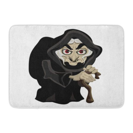 KDAGR Woman Old Witch in Black Cloak Cartoon Character Wicked Doormat Floor Rug Bath Mat 23.6x15.7 inch](Witches Cloak)