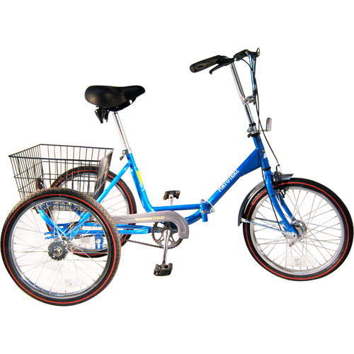 "20"" Trifecta Adult Single Speed Folding Tricycle"