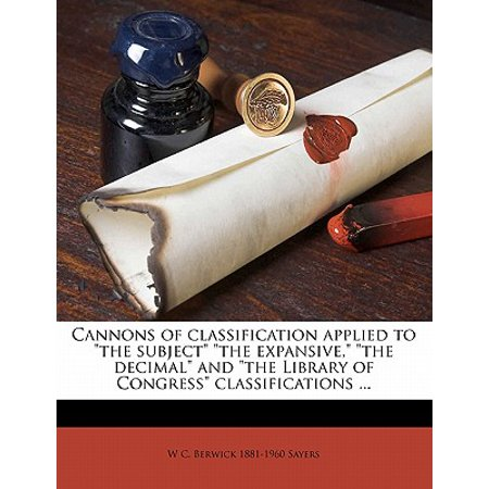 Cannons of Classification Applied to