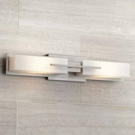 Possini Euro Design Modern Wall Light Brushed Nickel 23 1 2