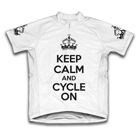 6 Panel Micro Cycling Short - Keep Calm and Cycle On Microfiber Short-Sleeved Cycling Jersey