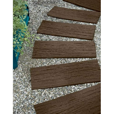 Gardener's Supply Company Recycled Rubber Railroad Tie Stepping Stone, PRODUCT- Design a unique pathway, patio or landscape accent with our recycled.., By Gardeners Supply Company](A And A Stepping Stone)