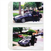 C-Line Products 52572BNDL2BX 35mm Ring Binder Photo Storage Pages  5 x 7  Traditional Clear  Side Load  11 .25 x 8 .13  50-BX - Set of 2 BX
