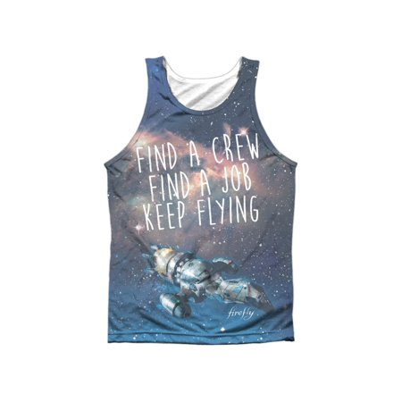 Firefly Keep Flying Adult Poly Tank Top White